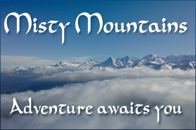 Misty Mountains Postcard