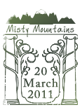 Misty Mountains Passport Stamp