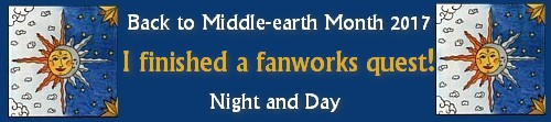 Back to Middle-earth Month 2017 Banner I Finished a Fanworks Quest