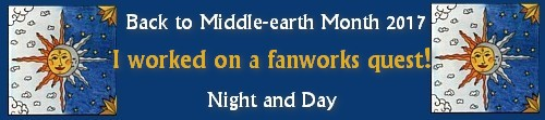 Back to Middle-earth Month 2017 Banner I Worked on a Fanworks Quest