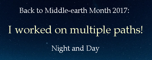 Back to Middle-earth Month 2017 Banner I Worked on Multiple Paths