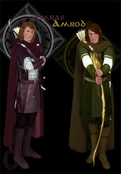 Sons of Fëanor - Amrod and Amras by Breogán