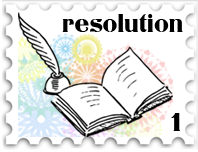 January 2018 New Years Resolution challenge stamp