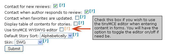 Edit Preferences Page Screencap