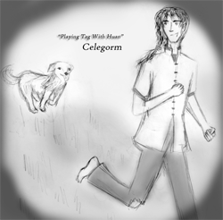 Playing Tag with Huan by Noliel