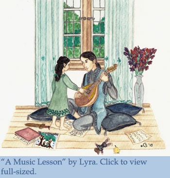 A Music Lesson by Lyra