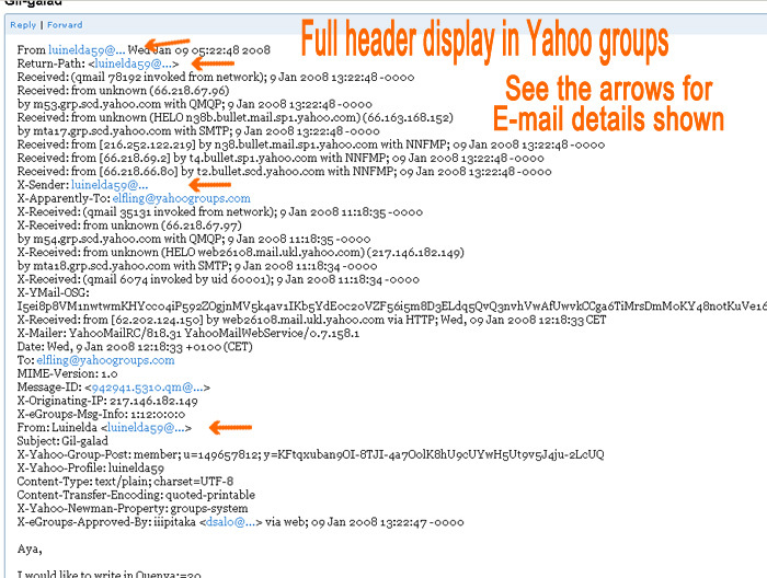 How Email Addresses Appear When Viewing Source Detail